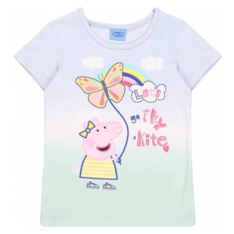 Peppa Pig Tričko  svetlomodrá / pastelovo zelená / biela / žltá / rosé / zmiešané farby