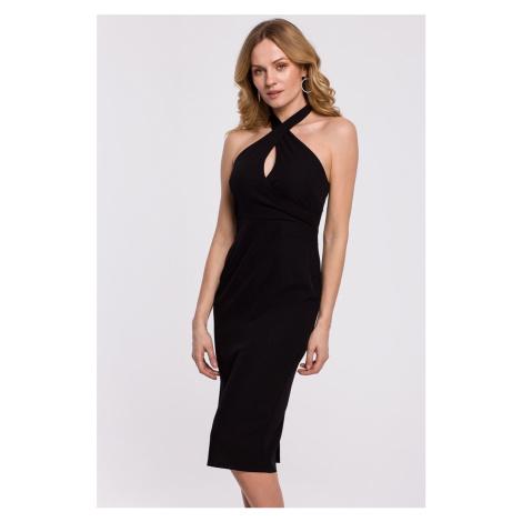 Čierne šaty K043