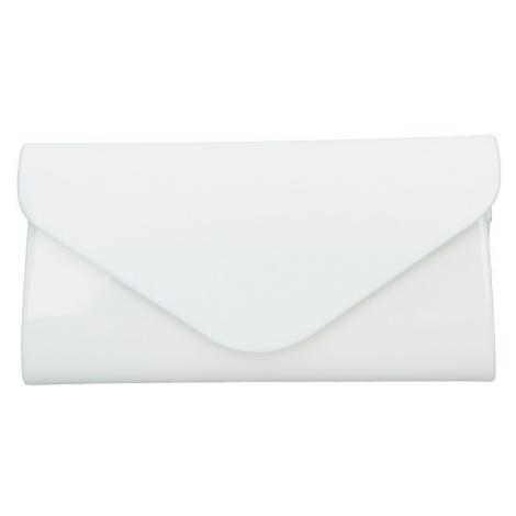 Elegantní lakovaná listová kabelka Leona - biela Delami