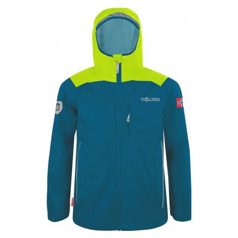TROLLKIDS Outdoorová bunda 'BERGEN'  námornícka modrá / svetlozelená