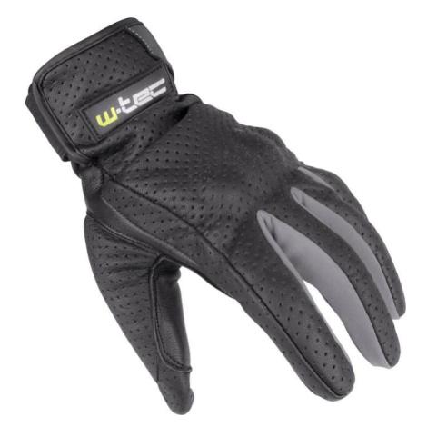 Letné kožené moto rukavice W-TEC Nyarra NF-4150 Farba šedá