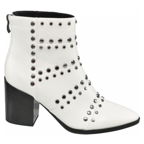 Star Collection - Biele členkové čižmy Rita Ora