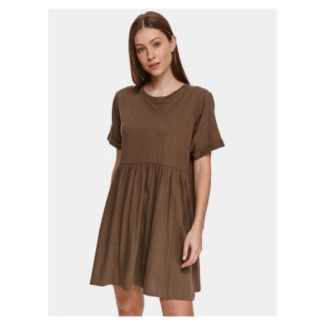 TOP SECRET hnedé voľné šaty