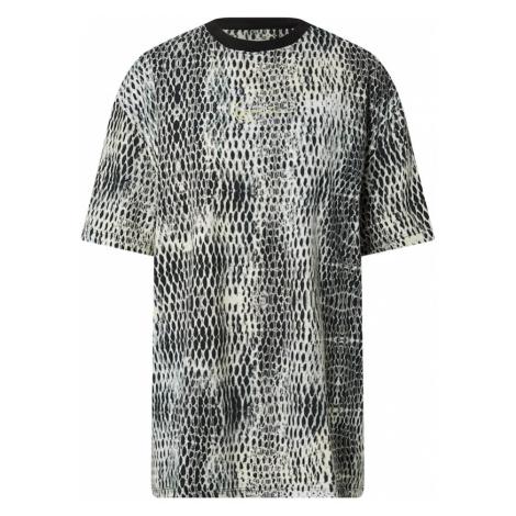 Karl Kani Oversize tričko  biela / čierna / svetlosivá