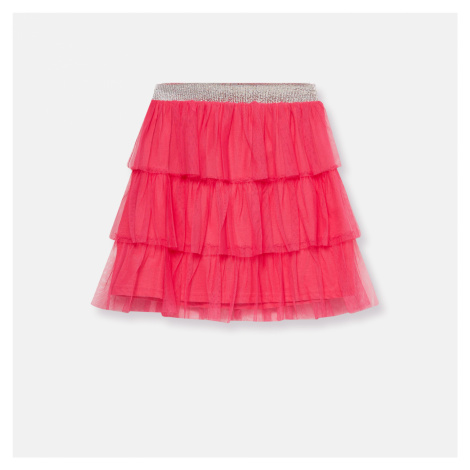 Sinsay - Volánová tylová sukňa - Ružová
