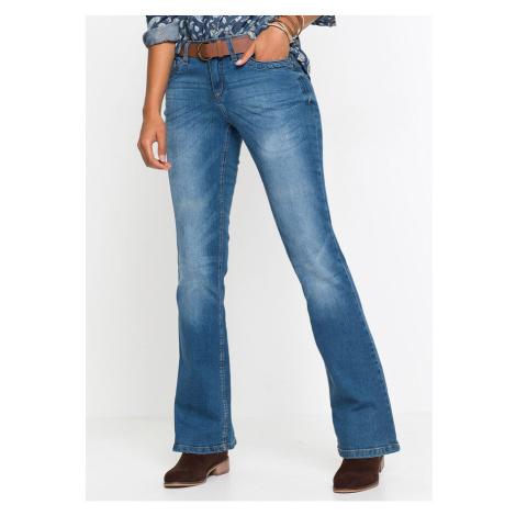 Strečové džínsy s opaskom, BOOTCUT