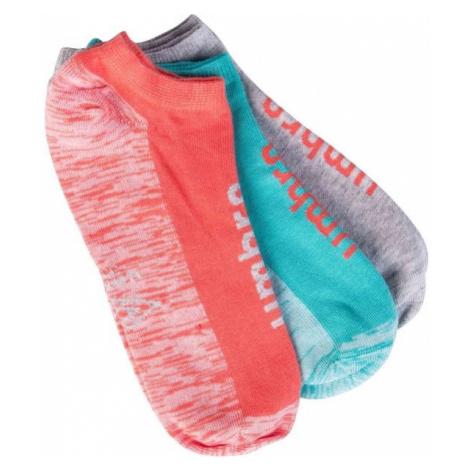 Umbro NO SHOW SOCK 3P šedá - Dámske ponožky