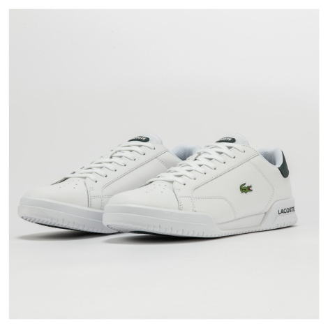 LACOSTE Twin Serve Leather white / dk green