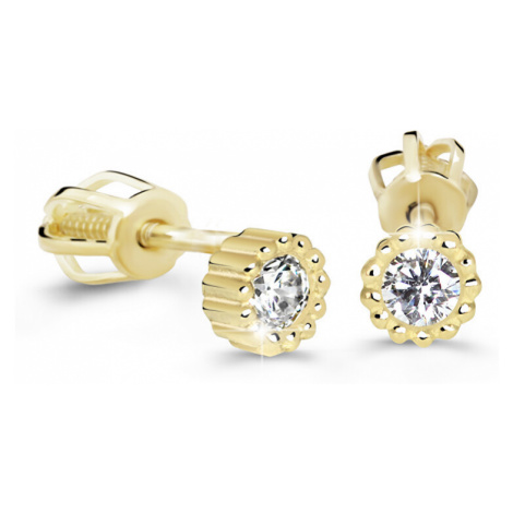 Cutie Diamonds Minimalistické náušnice kôstky zo žltého zlata s briliantmi DZ60236-30-00-X-1 Cutie Jewellery