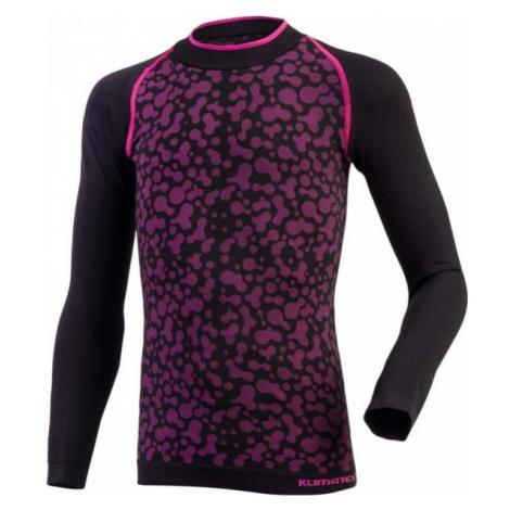 Klimatex KLARIKE čierna - Dievčenské funkčné tričko