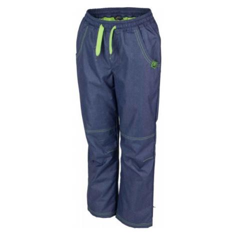 Lewro NING zelená - Detské zateplené nohavice