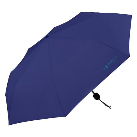 Esprit Skladací mechanický dáždnik Mini Basic Deep Ultramarine