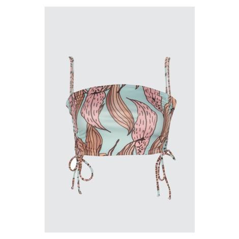 Trendyol Puckered Strapless Bikini Top