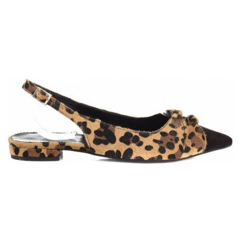 Trendyol Brown Leopard Detailed Women's Babet