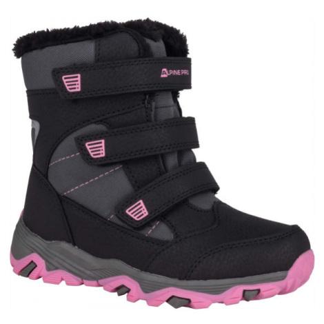 ALPINE PRO KURTO ružová - Detská zimná obuv