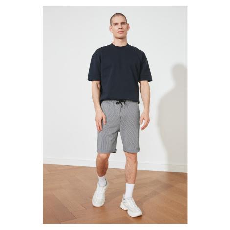 Trendyol Grey Men's Regular Fit Striped Shorts & amp; Bermuda