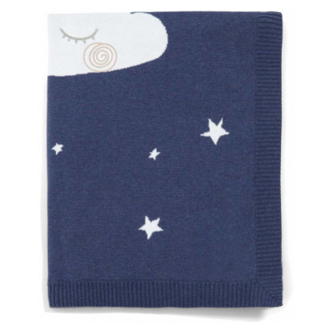 MAMAS & PAPAS Pletená deka 70x90 cm – nočná obloha modrá