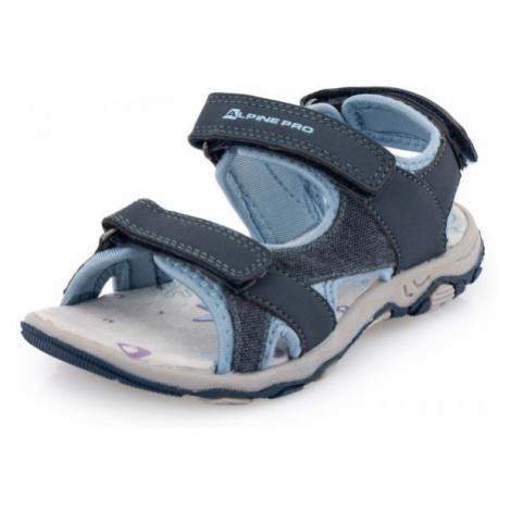 ALPINE PRO POPPIO modrá - Detská letná obuv