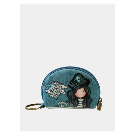 Modrá vzorovaná malá peňaženka Santoro Santoro London