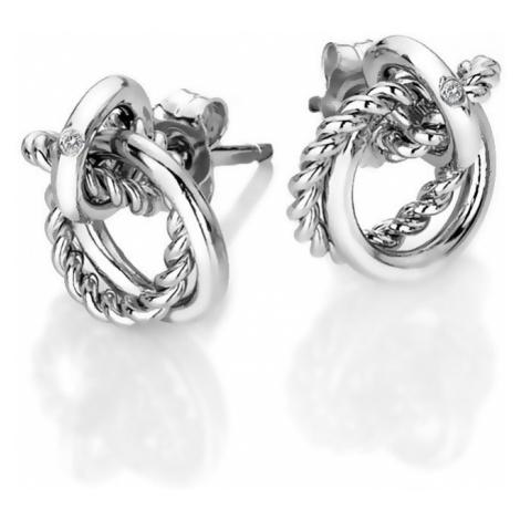 Hot Diamonds Strieborné náušnice s pravým diamantom Jasmine DE610