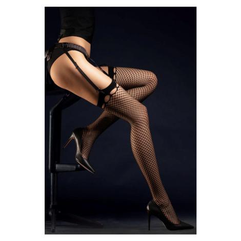 Čierne podväzkové pančuchy Burlesque 30DEN Fiore