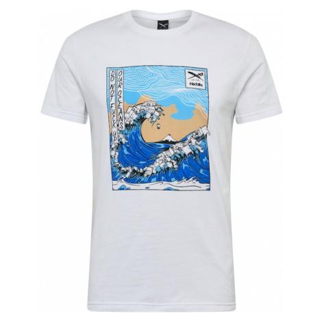 Iriedaily Tričko 'Trash Wave'  svetlomodrá / piesková / biela / modrá