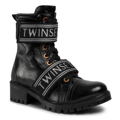 Outdoorová obuv TWINSET - Anfibio 201TCP132 Nero 00006
