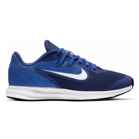 Nike DOWNSHIFTER 9 GS modrá - Detská bežecká obuv