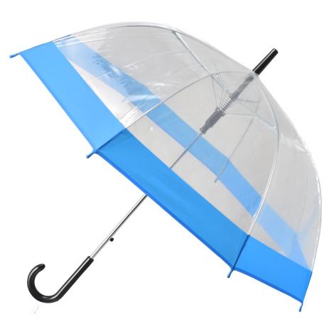 Semiline Unisex's Long Transparent Auto Open Umbrella 2507-4