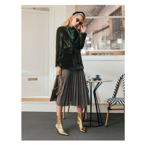 Koton Skirtly Yours Styled By Melis Agazat - Pleated Midi Skirt