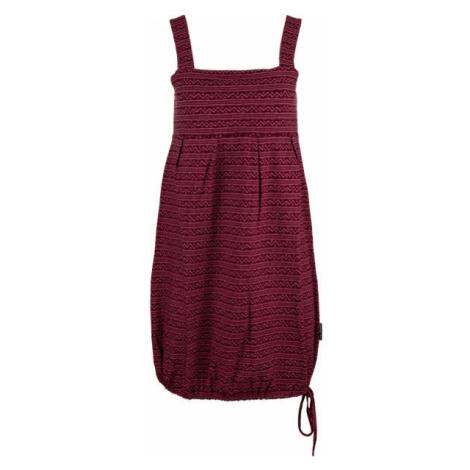 ALPINE PRO FAUNIA vínová - Dámske šaty