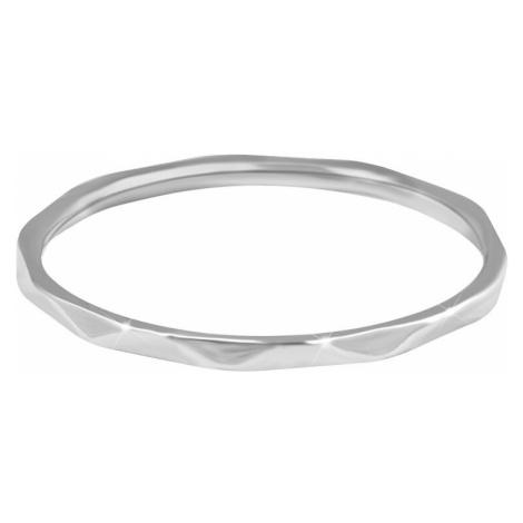 Troli Minimalistický oceľový prsteň s jemným dizajnom Silver mm