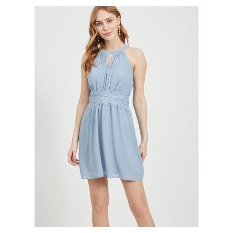 Vila modré spoločenské šaty