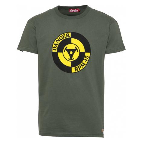 Derbe Tričko  olivová / žltá / čierna
