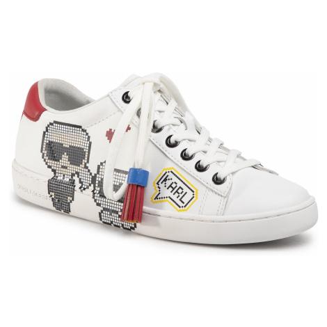 Sneakersy KARL LAGERFELD - KL61290 White Lthr