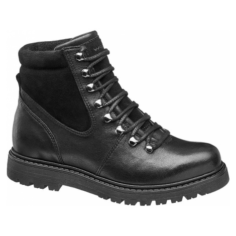 Wojas - Čierna kožená šnurovacia obuv Wojas