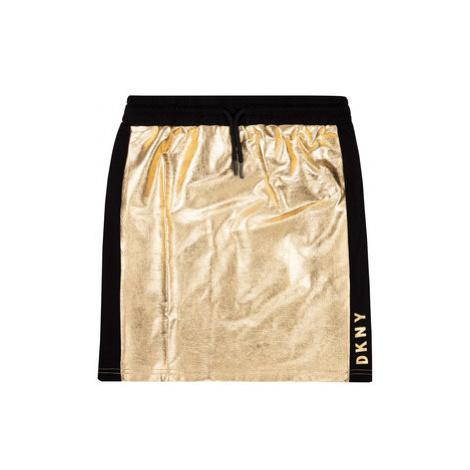 DKNY Sukňa D33551 Zlatá Regular Fit