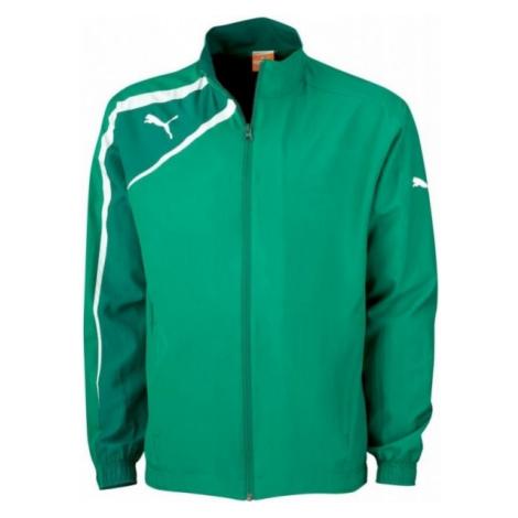 Puma SPIRIT WOvoN JACKET JR zelená - Detská športová bunda