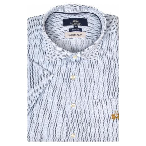 Košeľa La Martina Man S/S Shirt Poplin Printed