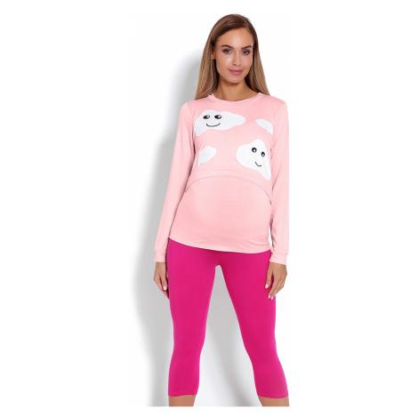 Ružový tehotenský pyžamový komplet 1679 PeeKaBoo