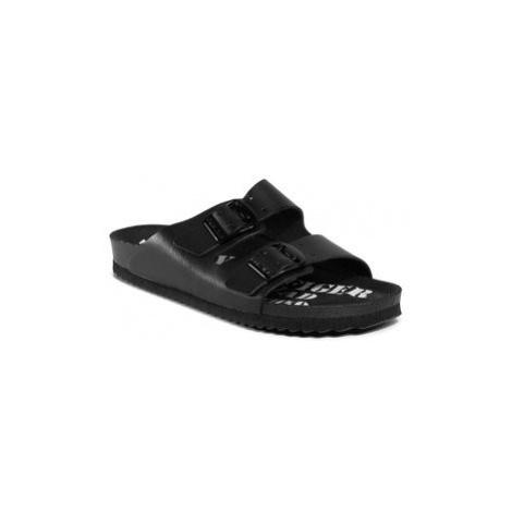 Tommy Jeans Šľapky Archive Print Flat Sandal EN0EN00905 Čierna Tommy Hilfiger
