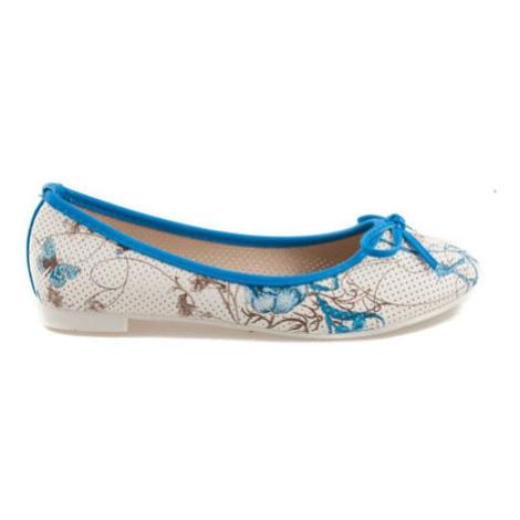 Modré balerínky s kvetmi Vices