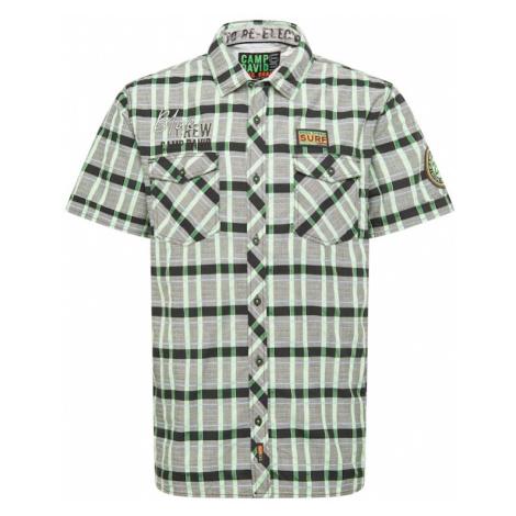CAMP DAVID Košeľa  zelená / sivá / čierna