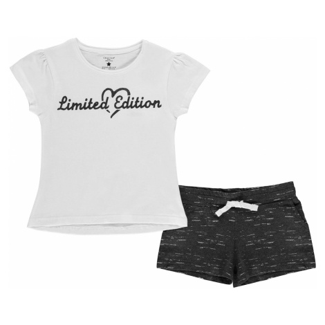 Crafted Junior Girls T-Shirt and Shorts Set Limited Ed