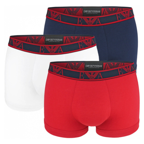 EMPORIO ARMANI - 3PACK stretch cotton rosso boxerky