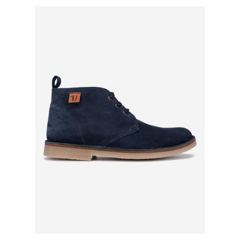 Topánky Trussardi Desert Boot Suede Modrá
