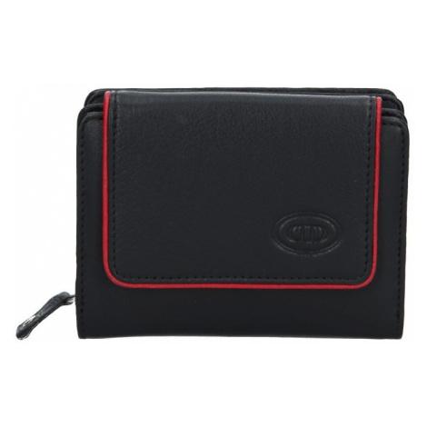 Dámska kožená peňaženka DD Anekta Markéta- čierno-červená