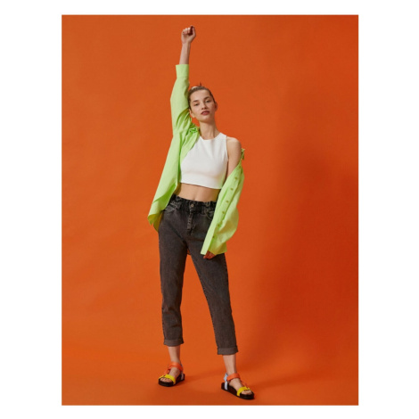 Koton Mom Jean - Cotton Normal Waist Slim Fit Trousers