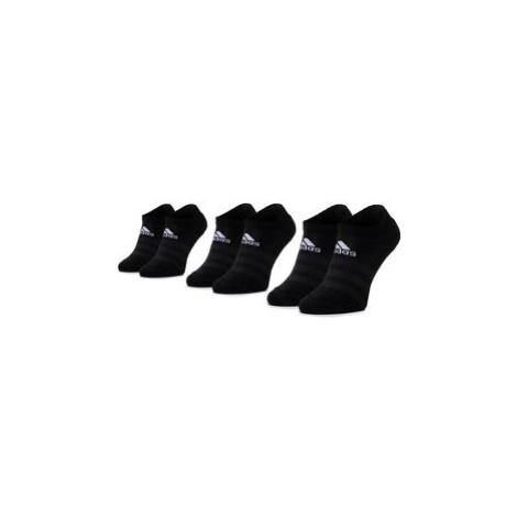 Adidas Súprava 3 párov kotníkových ponožiek unisex Cush Low 3PP DZ9385 Čierna