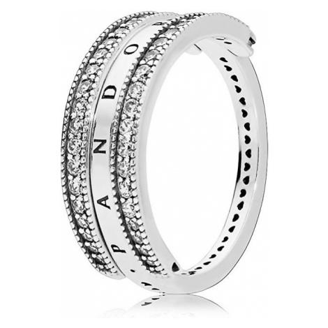Pandora Luxusný strieborný prsteň 197404CZ mm